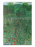 Garden Landscape Wall Decal by Gustav Klimt