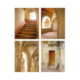 Old World Arches Four Patch Wallstickers