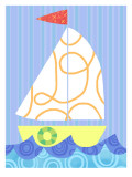Fun Sailboat Muursticker