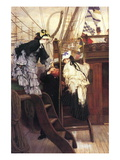 Entry To The Yacht Wall Decal by James Tissot
