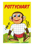 Monkey Potty Chart Wall Decal by Jason Pierce