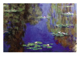 Monet - Water Lilies Muursticker van Claude Monet