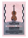 German Music Store Wallstickers af Carl Kunst