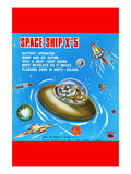 Space Ship X-5 Wall Decal