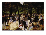 Music In Tuilerie Garden Wall Decal by douard Manet