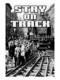 Stay on Track Wall Decal