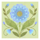 Floral Square III Wallstickers