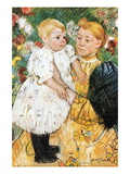 In The Garden Wall Decal by Mary Cassatt