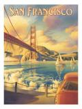 San Francisco Adhésif mural par Kerne Erickson