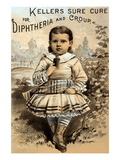 Keller's Sure Cure For Diptheria and Croup Wall Decal