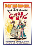 Vote Obama, End the Republican Grab Bag Wall Decal
