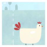 Chick on Farm Wallstickers