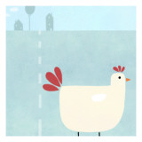 Chick on Farm Wall Decal