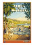 "Erickson ""Along the Malibu"" Adhésif mural par Kerne Erickson"