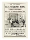The Celebrated Gillette Horse-Clipping Machines Wall Decal