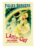 L'Arc En Ciel: Folies-Bergere Wall Decal by Jules Chéret