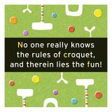 Croquet Rules - Duvar Çıkartması