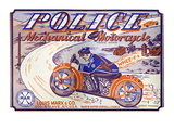 Police Mechanical Motorcycle Wallsticker