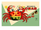 Mechanical Crab Wall Decal