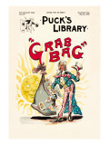 Puck's Library: Grab Bag Wall Decal by Frederick Burr Opper