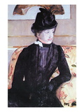 Young Woman In Black Wall Decal by Mary Cassatt