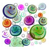 Floating Smiley Faces Kalkomania ścienna