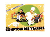 Au Comptoir des Viandes Wall Decal