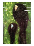 Sirenas Vinilo decorativo por Gustav Klimt