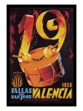 Fallas de San Jose Valencia Wallstickers