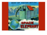 Space Elephant Wall Decal
