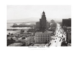 Ocean Avenue, Long Beach, 1940 Wall Decal