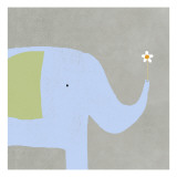 Elephant with Flower Wall Decal