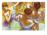 Dancer In Blue Wall Decal by Edgar Degas