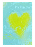 Yellow Heart Wall Decal