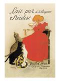 Lait pur stérilisé de La Vingeanne Autocollant mural par Théophile Alexandre Steinlen