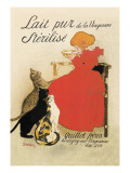 Lait Pur de la Vingeanne Sterilise Wall Decal by Thophile Alexandre Steinlen