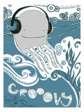 Groovy Whale Wall Decal