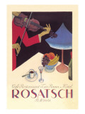 Rosatsch: Cafe-Restaurant, Tea Room, Hotel Wall Decal