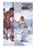 A Quiet Greeting Wall Decal by Sir Lawrence Alma-Tadema