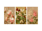 Traditional Floral Triptych Wall Decal