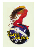 The Coffees of Brazil Wallstickers