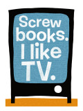 Screw Books Wall Decal