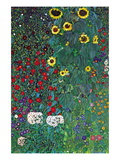 Garden Wall Decal by Gustav Klimt