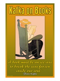 Kafka on Books Wall Decal
