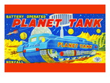 Planet Tank Wall Decal