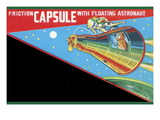 Friction Capsule with Floating Astronaut Wall Decal