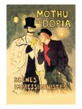 Mothu et Doria: Scenes Impressionnistes Autocollant mural par Théophile Alexandre Steinlen
