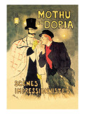 Mothu et Doria: Scenes Impressionnistes Wallstickers af Théophile Alexandre Steinlen