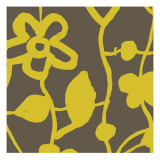 Gold Floral Pattern Wallstickers