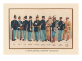 Uniforms of 10 Infantry Figures, 1899 Autocollant mural par Arthur Wagner